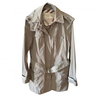 Burberry Khaki Lightweight Rain Jacket