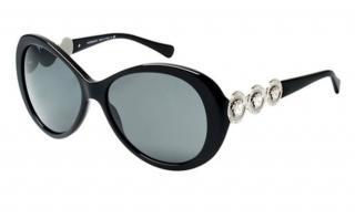 Versace Medusa Oversized Black Embellished Sunglasses