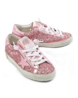 Golden Goose Superstar Pink Sequin Kids Sneakers