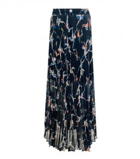 Bimba Y Lola Acrobat Print Pleated Skirt