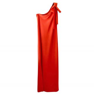 Boutique Moschino Red One Shoulder Gown