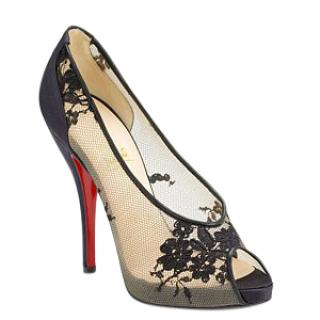 Christian Louboutin Fetilo lace peep-toe pumps