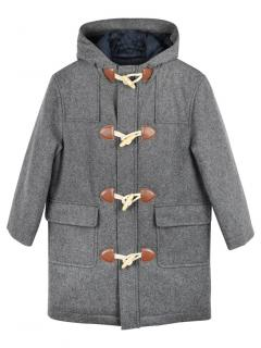 Brooks Brothers Grey Hooded Duffle Coat