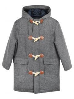 Brooks Brothers Boys Grey Hooded Duffle Coat