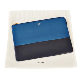Celine by Phoebe Philo Two-Tone Zip Pouch