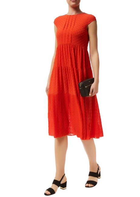 Maje Ryline Chiffon Midi Dress