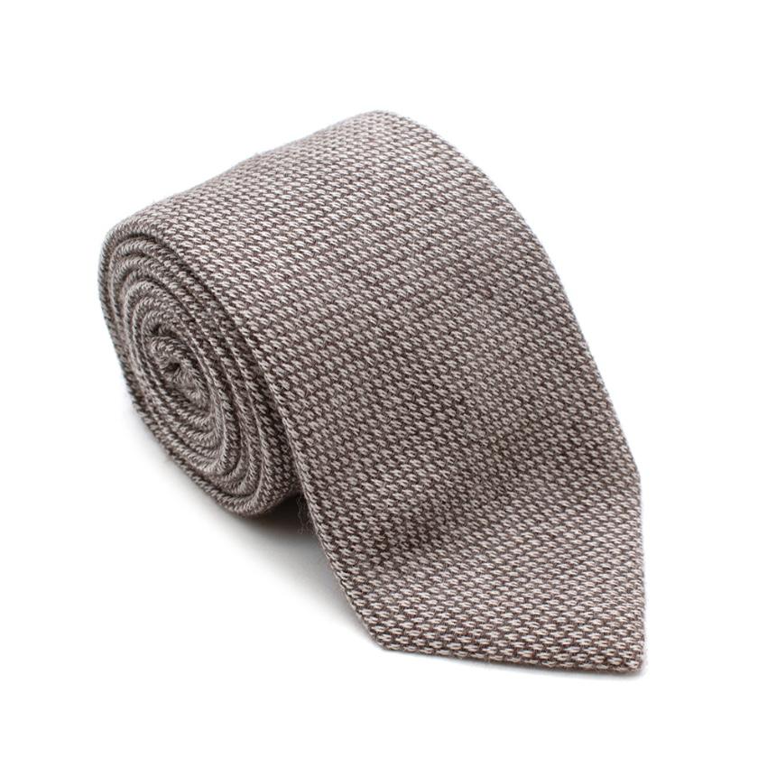 Marzullo Brown Silk & Cashmere Tie