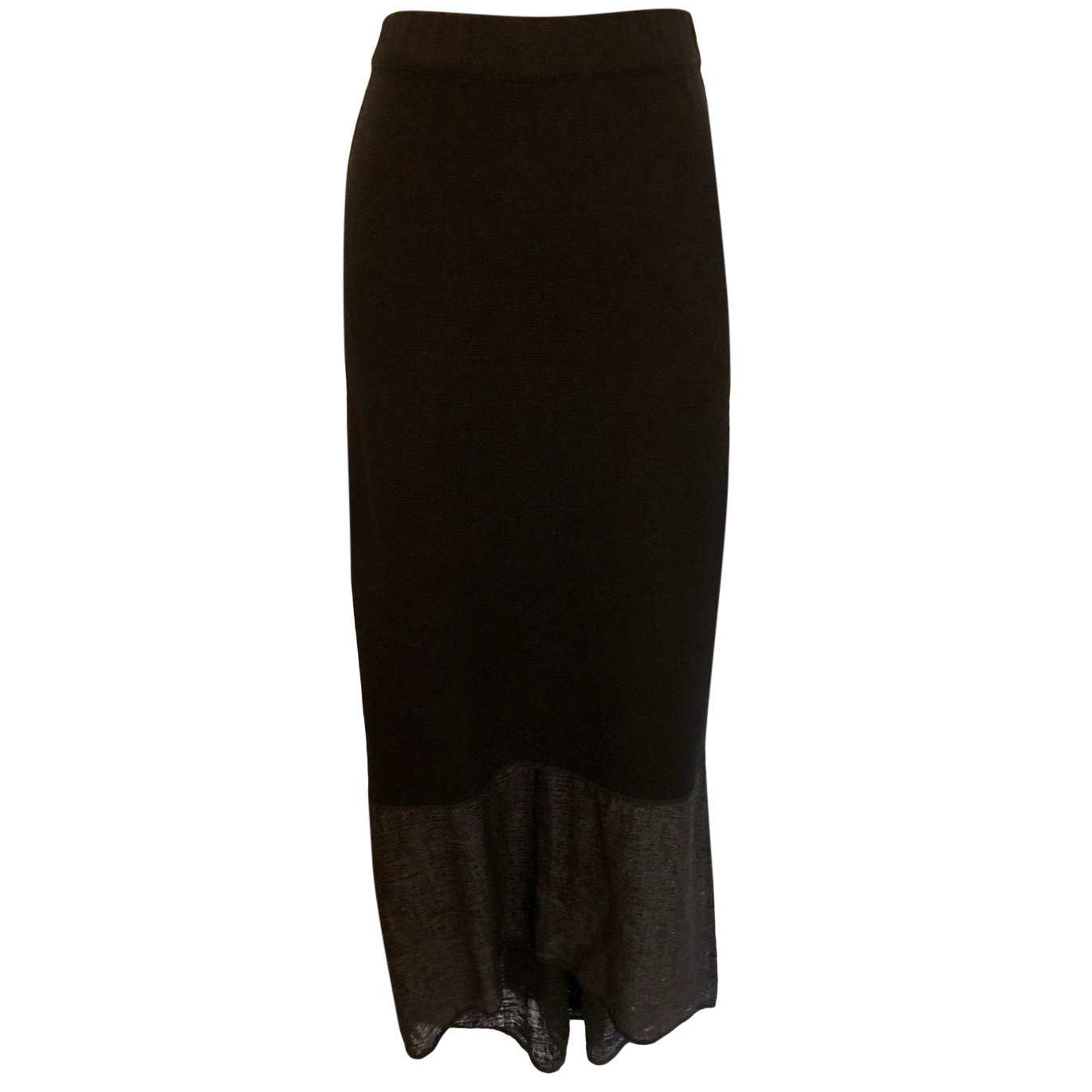 Annette Gortz Black Semi Sheer Knit Long Skirt