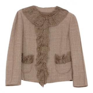 Dolce & Gabbana Beige Lace Blazer