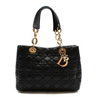 Dior Black Soft Cannage Calfskin Soft Lady Dior Bag