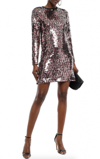 McQ by Alexander McQueen Sequin Embellished Tulle Mini Dress