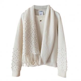 Chanel Paris/Bombay Lurex Knit Cashmere Jumper & Scarf