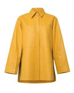 Dorothee Schumacher Modern Shirting Oversized Leather Jacket