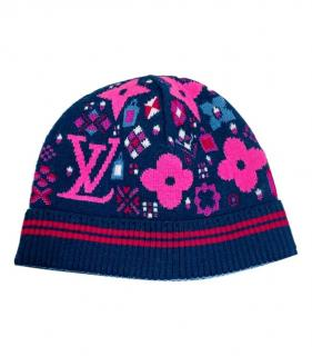 Louis Vuitton Pink & Blue Idylle Wool Hat