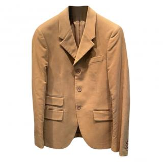 Prada Camel Velour tailored Jacket