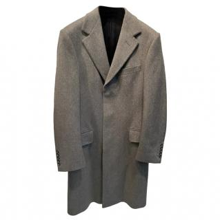 Gucci Mens Grey Wool Overcoat