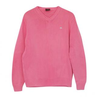 Etro Pink Cotton Lightweight Jumper