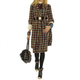 Chanel Runway Fantasy Tweed Embellished Coat