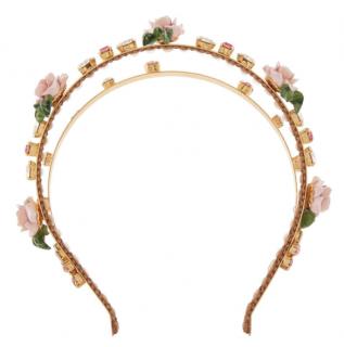 Dolce & Gabbana Rose Embellished Headband