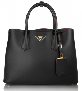 Prada Shopping City Sport Shopper in Black/Red