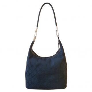 Gucci Black Monogram Vintage Tote Bag