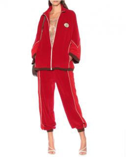 Gucci Red Chenille Kimono Jacket