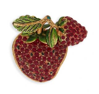Dolce & Gabbana Strawberry Crystal Pin Brooch