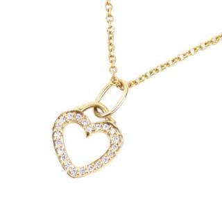 Tiffany & Co. Metro Collection Diamond Heart Pendant Necklace