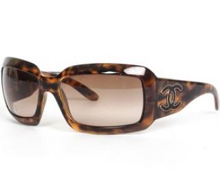 Chanel Brown Tortoiseshell CC Sunglasses