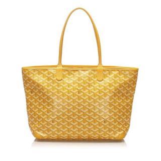 Goyard Yellow Coated Canvas Artois PM Tote Bag