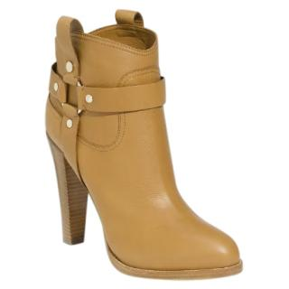 Jimmy Choo Tan Donita Leather Ankle Boots
