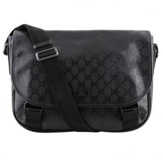Gucci Black Monogram Imprime Messenger