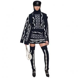 Chanel Paris/Hamburg Fantasy Cashmere & Wool Runway Jumper & Skirt