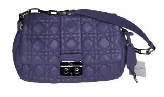 Dior Lilac Cannage Leather Lock Flap Shoulder Bag
