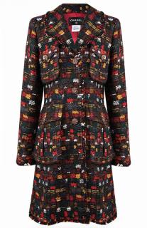 Chanel Paris/Edinburgh Multicoloured Tweed Runway Coat