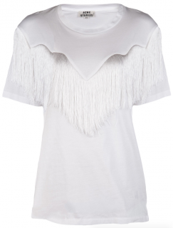 Acne Studios White Joshi Fringe Top