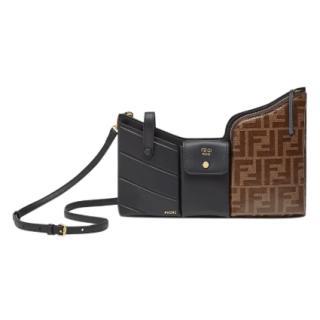 Fendi Monogram/Tobacco Mini 3 Pockets Bag