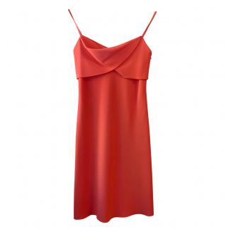 Boutique Moschino Coral Satin Mini Dress