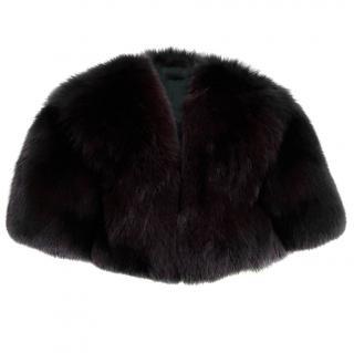 Furs of Mayfair Burgundy Fox Fur Cape