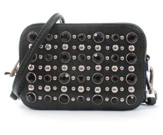 Sandro Black Studded Crossbody Bag