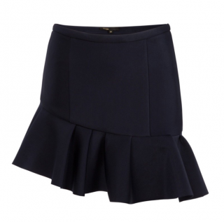 Maje Asymmetric Ruffle Mini Skirt