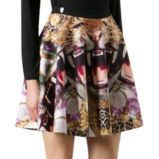 Philipp Plein Crazy Jungle Print Skirt