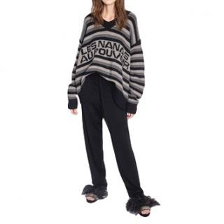 Sonia Rykiel Les nanas au pouvoir boyfriend sweater