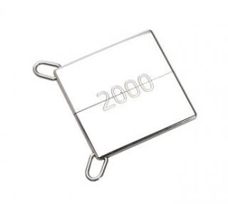 Hermes Silver Tone Square Silver Symbole 2000 Pendant Necklace