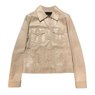 Louis Vuitton Beige Leather Jacket