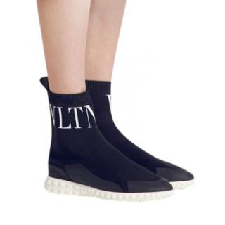 Valentino Blue/Black VLTN Sock Trainers