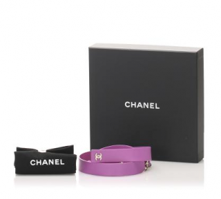 Chanel Pink Leather Self-Tie Chain Belt