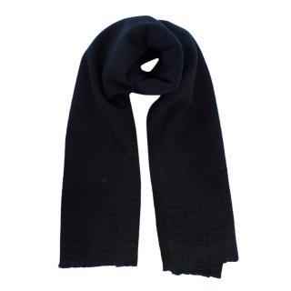 Chanel Navy & Black Cashmere CC Large Stole