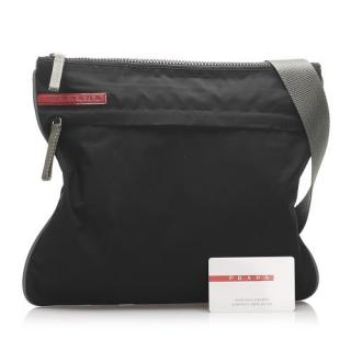 Prada Sport Black Nylon Messenger Bag