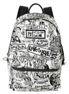 Dolce & Gabbana Sicilian Graffiti Print Backpack